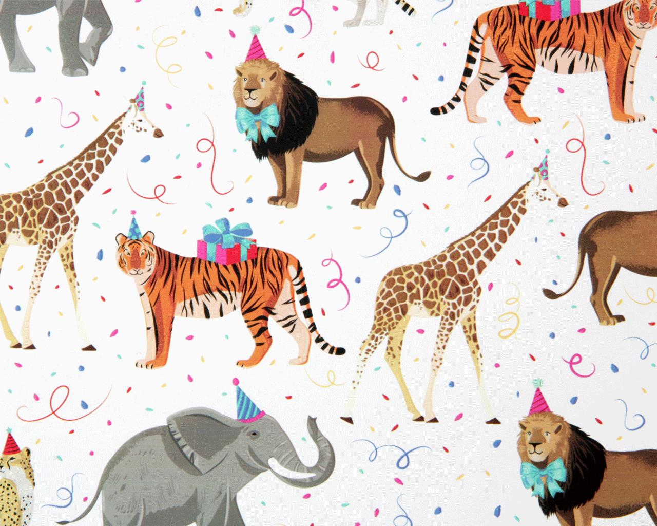 Caspari Party Animals Die-Cut Place Cards - 8 Per Package – Caspari UK | 1024x1280