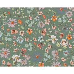 inpakpapier-beautiful-flowers-green-0117206-50cm