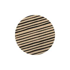 Etiket-rond-45mm-Stripes-Kraft-zwart-118124.png