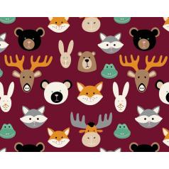 inpakpapier-animal-burgundy-50cm