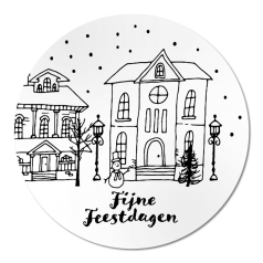 Etiket-Sticker-Ø58mm-Fijne-Feestdagen-met-winters-tafereel-wit-zwart-0120471.png