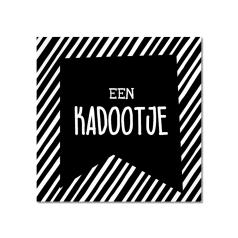 Etiket-Sticker-45x45mm-Een-Kadootje-wit-zwart-0120466.png