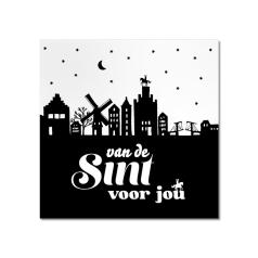 Etiket-Sticker-45x45mm-Van-de-Sint-met-skyline-wit-zwart-120449.png