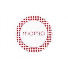 Etiket rond 'mama' (rood)