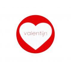Etiket rond 'valentijn'