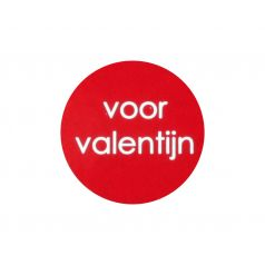 Etiket rond 'voor valentijn'