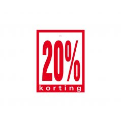 Label met ponsgat '20% korting'