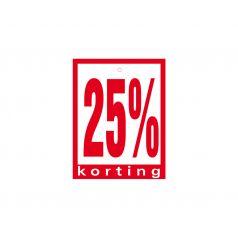 Label met ponsgat '25% korting'