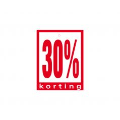 Label met ponsgat '30% korting'