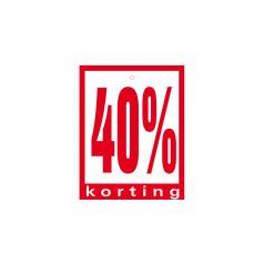 Label met ponsgat '40% korting'