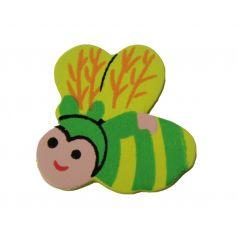 Decoplakker Bij - Groen/geel