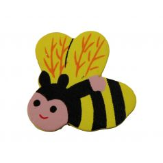 Decoplakker Bij - Zwart/geel