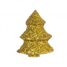 Decoplakker kerstboom Goud
