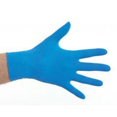 Handschoen latex gepoederd - Blauw (m)