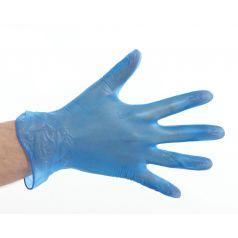 Handschoen Vinyl gepoederd - Blauw (l)