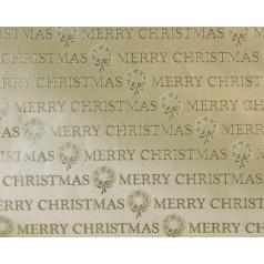 inpakpapier Merry Christmas goud
