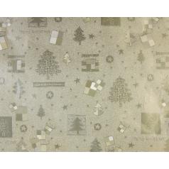 goud inpakpapier met kerstbomen