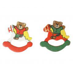 Decoplakker Kerstbeer op paard
