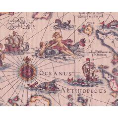Inpakpapier kraft Ocean Map