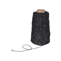 Koord Lurex Twist - Zwart/zilver