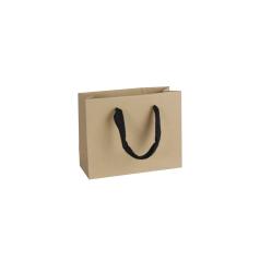 Luxe papieren draagtas - Gerecycled bruin (22x8x16+6cm, 170 gr)
