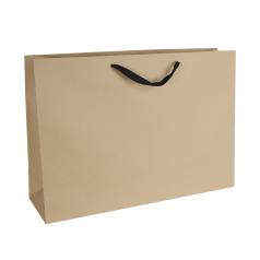 Luxe papieren draagtas - Gerecycled bruin (57x17x40+6cm, 170 gr)