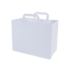 Snacktas, vlakke handgrepen - Wit (22x11x28cm)
