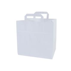 Snacktas, vlakke handgrepen - Wit (32x18x27cm)