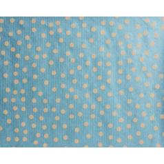 Inpakpapier kraft Spotted Light Blue (metallic), 50cm