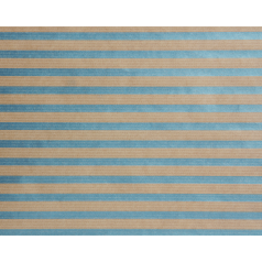 Inpakpapier kraft Stripes Light Blue (metallic), 50cm