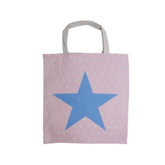Katoenen draagtas Star & Hearts - Roze