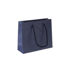 Luxe papieren draagtas - Dark blue (24x8x20+5cm, 170gr)