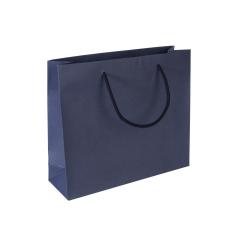 Luxe papieren draagtas - Dark blue (32x10x27,5+5cm, 170gr)