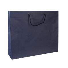 Luxe papieren draagtas - Dark blue (54x14x44,5+6cm, 170gr)