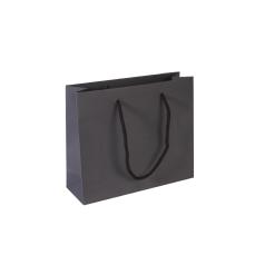Luxe papieren draagtas - Dark brown (24x8x20+5cm, 170gr)