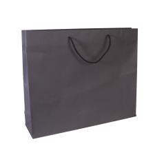 Luxe papieren draagtas - Dark brown (54x14x44,5+6cm, 170gr)