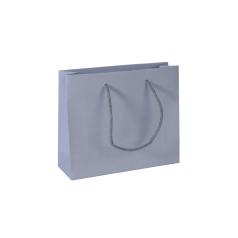 Luxe papieren draagtas - Grey (24x8x20+5cm, 170gr)