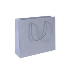Luxe papieren draagtas - Grey (32x10x27,5+5cm, 170gr)