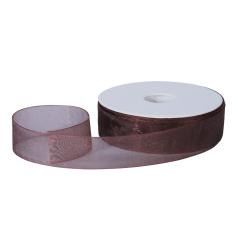 Organza lint - Donkerbruin (25mm)