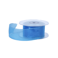 organza lint wire edge candy blauw