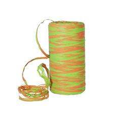 Raffia - Groen/oranje