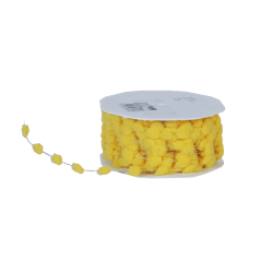 sierlint dots cord geel