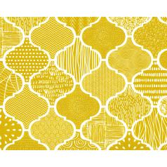 Luxe inpakpapier met een olijfkleurig dessin.