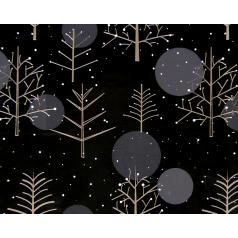 Inpakpapier Kerst, Stars Blue/Silver