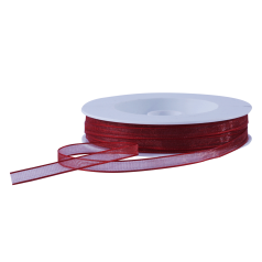 Organza lint - Bordeaux (7mm)