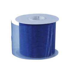 Organza lint - Donkerblauw (70mm)
