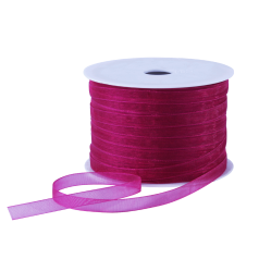 Organza lint - Hard roze (7mm)