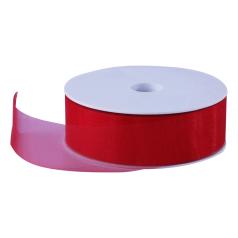 Organza lint - Rood (30mm)