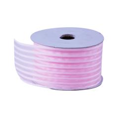 Organza lint Bloem - Roze