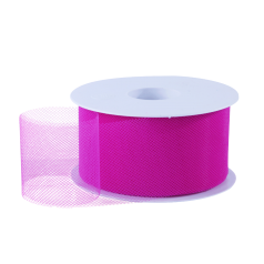 Tule lint - Hard roze (50mm)